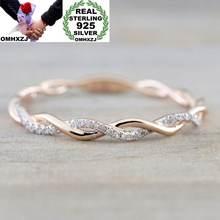 Кольцо omhxzj из стерлингового серебра 925 пробы с желтым/розовым