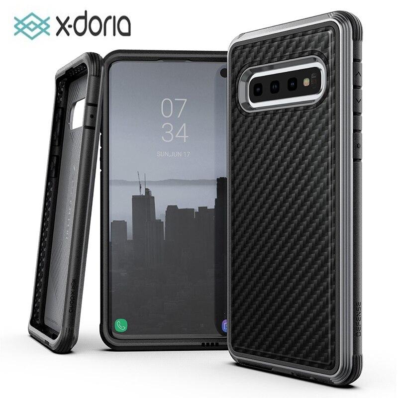 X Doria Defense Lux чехол для телефона Samsung Galaxy S10 Plus  S10e военный класс проверенный чехол для S10 Plus S10e Алюминиевый  ЧехолПодходящие чехлы