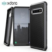 X Doria Difesa Lux Cassa Del Telefono per Samsung Galaxy S10 Più S10e Grado Militare Goccia Testato per S10 più S10e di Alluminio Della Copertura