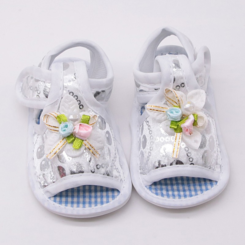 WEIXINBUY Baby Girl Ghoes Baby Girl Princess Shoes Big Bow Floral First Walkers Soft Sole Anti-Slip Kids Crib Footwear 2018