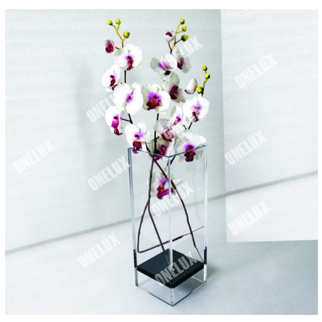 Online Shop Perfect Clear Large Acrylic Square Vase Floral Arranging