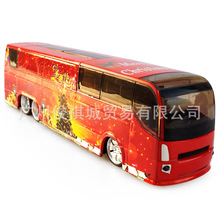 Interesting children's toy car, alloy die-casting, red Christmas Edition, bus lovely cartoon model, intelligence education toy(China)