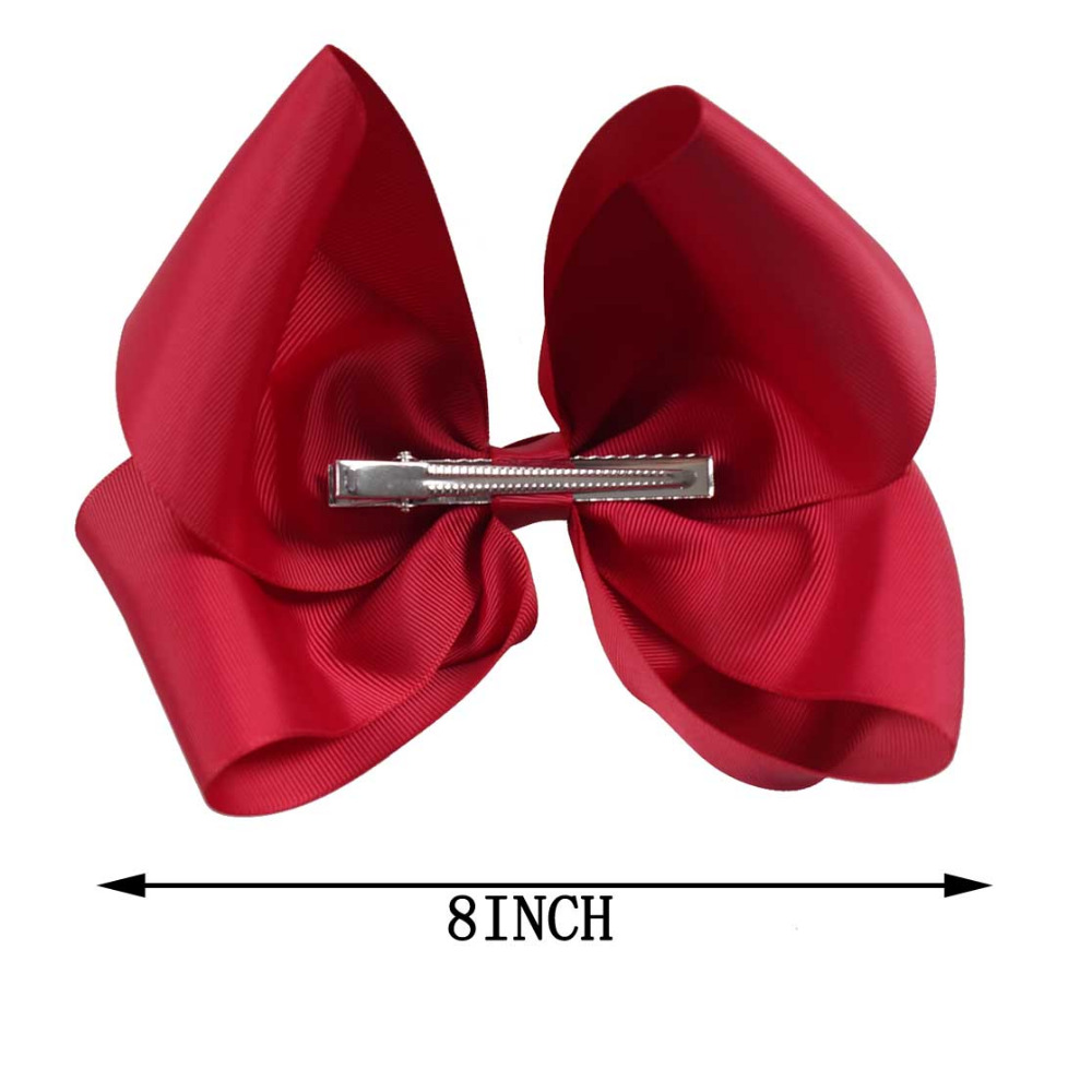 Image 2 - 60 Color 8'' Large Hair Bows Combinations Wholesale Hair Clips One Piece Of Each Color In A Bag Hair Accessories-in Hair Accessories from Mother & Kids
