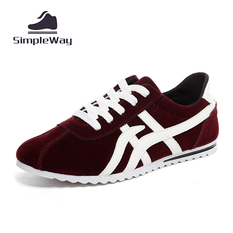 Mens shoes casual suede breathable lace up solid sport trainers mens ultra light flats zapatos hombre