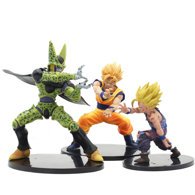 все цены на Chanycore 18CM Anime Dragon Ball Z Action Figure Cell Son Goku Gohan Tenkaichi Budokai Collectible Model Toy Dramatic Showcase онлайн
