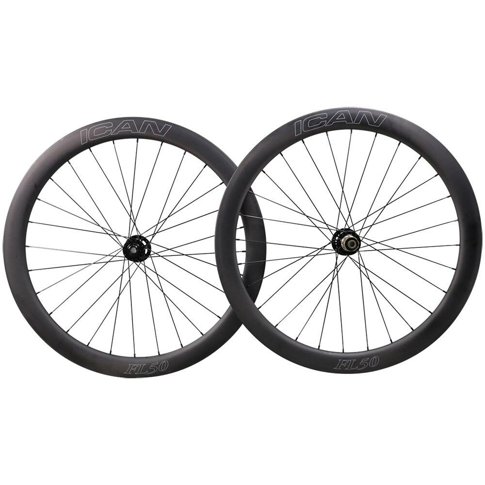 Roues de route et de cyclocross en carbone 700C 50mm de largeur 25mm avec moyeu ec Novat et spoeks Sapi m