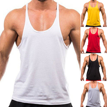 New Trendy Men's Fashion Sleeveless Singlets Muscle Vest Fitness Workout Tank Top New Arrival