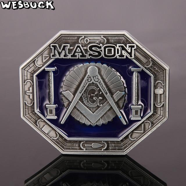 WesBuck Marque Mason Croix bâtiment Meltal Cool Boucles De Ceinture Pour  Les Hommes de Ceinture Boucle dec7cf234fe