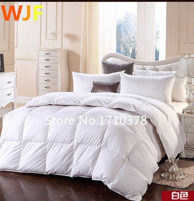 95 Goose White Pink Beige Feather Down Comforter Quilt Blanket Duvet Cover