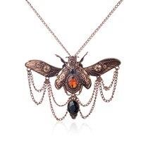 Винтажное ожерелье в виде жука в стиле стимпанк