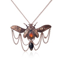 Vintage Beetle Pendant Steampunk Jewelry Necklace