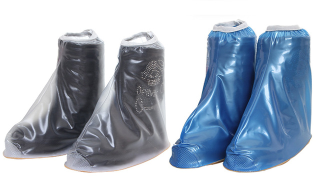 Kids Fashion Waterproof Shoe Covers Thicker Non-slip Wellies Rain Rubber Boots Ankle Boots Heels