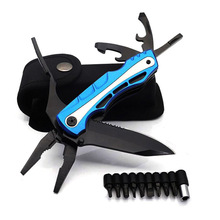 Multitols Folding Plier Stainless Steel Multiunction  Wire Stripper Crimping tool Knife Cable Cutter Outdoor Survival Camping To