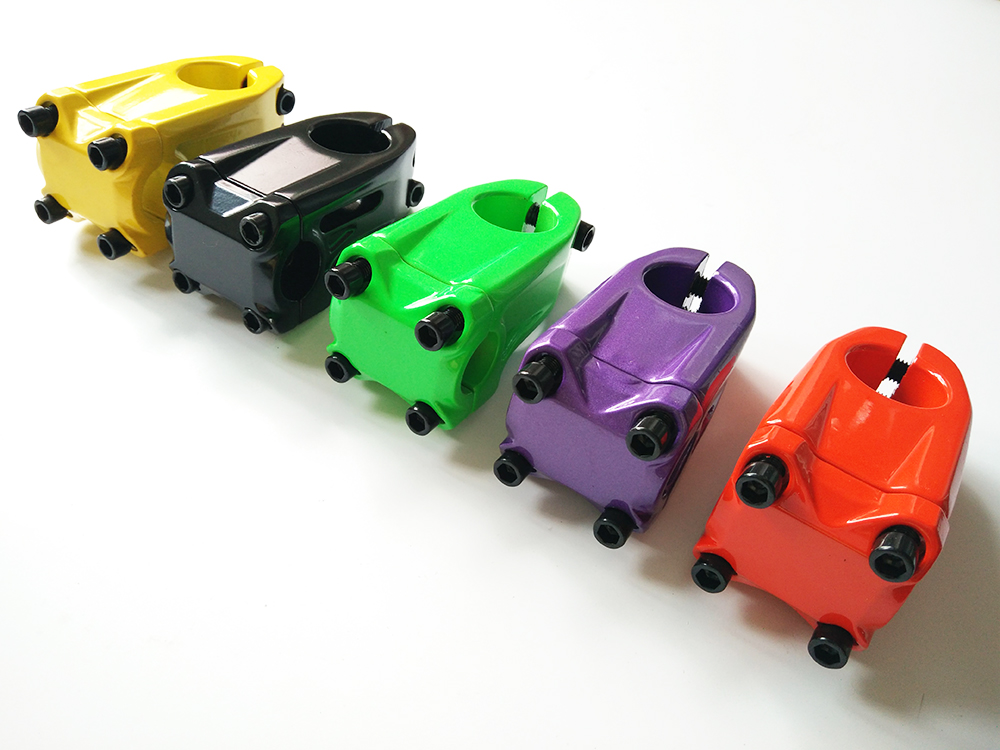 hot sale! aluminum alloy black red green yellow purple 28.6 22.2 mm <font><b>bmx</b></font> bicycle stem image