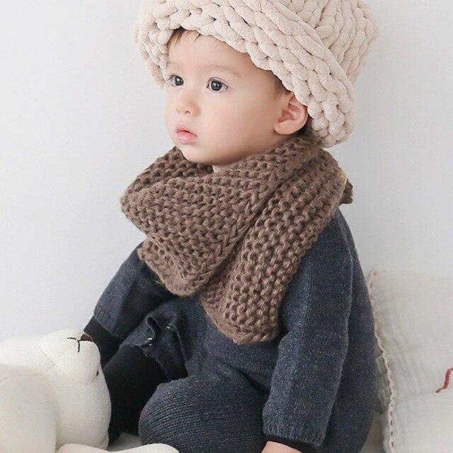 Sweety preciosa bufanda de punto para niños invierno grueso caliente ...
