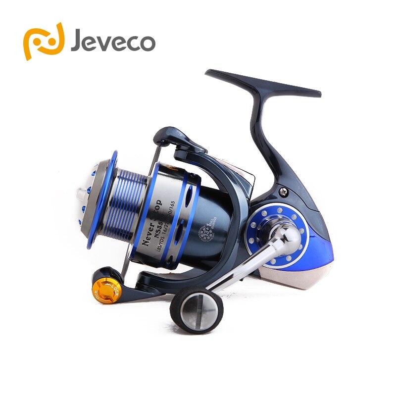 Jeveco NeverStop Spinning Angeln Reel, 13 + 1BB Salzwasser Angeln Reel, Voll Metall Bau Extrem Stärker Und Glatte