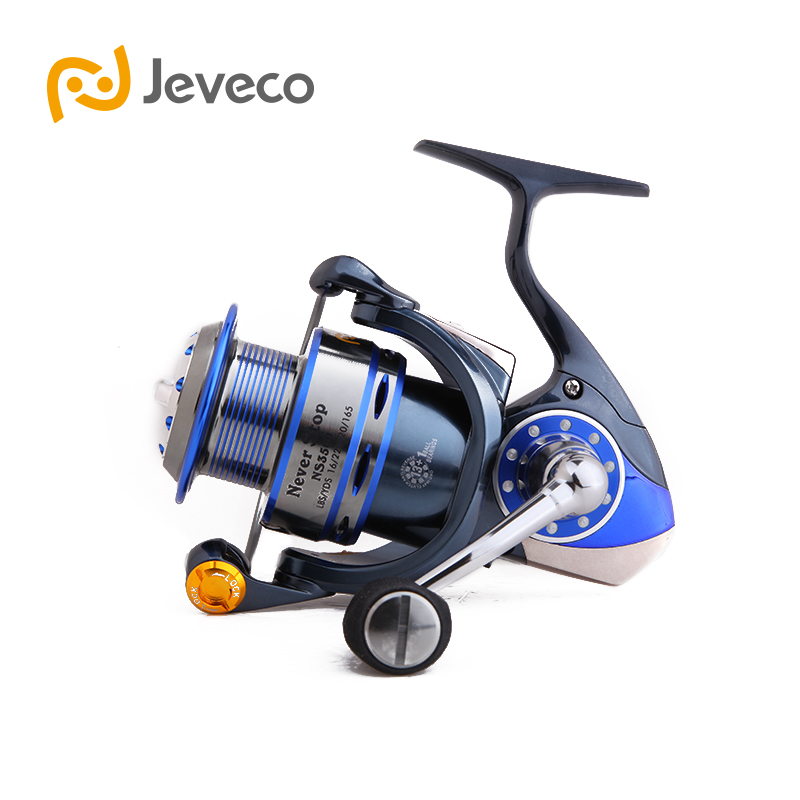 Jeveco NeverStop Spinning Fishing Reel, 13+1BB Saltwater Fishing Reel, Full Metal Construction Extremely Stronger and Smooth