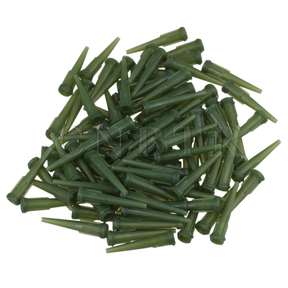 CNBTR 100pcs TT Blunt Glue Liquid Industrial Dispenser Needle Blunt Tapered Tips Olive Green 14Ga james blunt milan