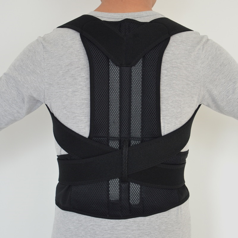 Postura ajustable Soporte para la espalda Correa de corrector Correa de banda Correa de banda Braces para el hombro Braces y soportes para la seguridad del deporte