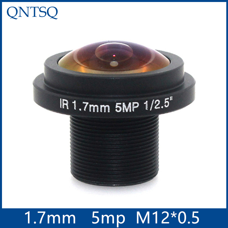 1.7mm 5MP Megapixel Fish Eye Lens,Car lens,180degrees wide-angle, cctv board camera lens Board Fixed F2.0 Lens .M12 1.7mm(5MP)