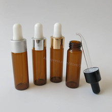 Free Shipping - 24x 15ml Amber Dropper Bottle, 1/2oz Brown Glass Dropper Container, 15cc Amber Glass Vials 7 colors scrub skull bitter bottle of bitter medicine dropper bitter bottle 30 60 120ml