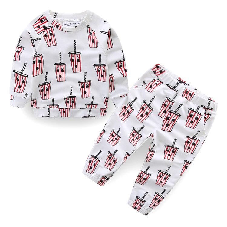 2018 Spring Summer New Arrive Hugo Bobo Choses Ice Cream Printing Boys Girls Tshirt Baby Clothes Vestidos Set bobo choses юбка bobo choses модель 281253496