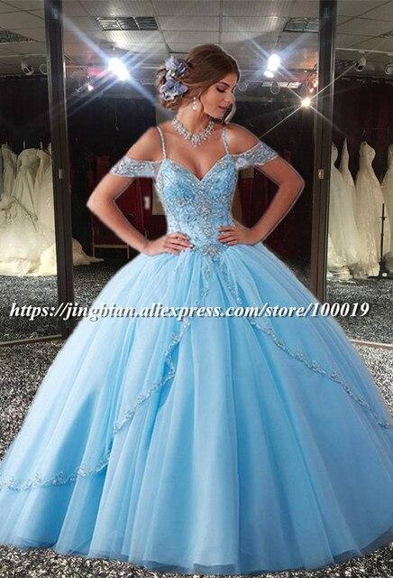 Aliexpress.com : Buy Vestidos de 15 Anos Bead Tulle Ball Gown ...