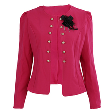 Casual Female Autumn Cardigans Blazer Long Sleeve Double Breasted Women Blazers Jackets Slim Fit Feminina Short Tops Coats