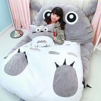 Totoro Sleeping Bag Giant Stuffed Animal Bed Cusion Cute Cartoon Sofa Bed Twin Bed Double Bed For Kids