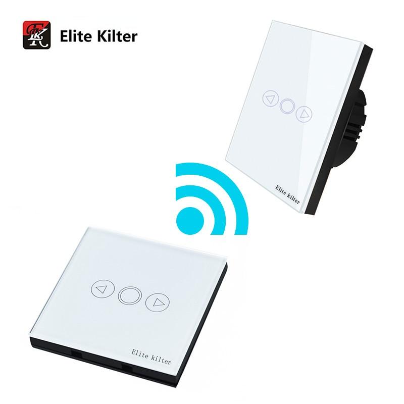 Elite Kilter EU Standard Wall Switch Glass Panel Touch Switch 3 Gang 2 Way Light Switch 86*86mm Waterproof Home Luxury Switch svart crown svart crown abreaction lp cd