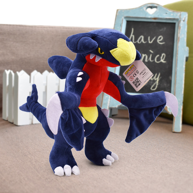 30cm 12'' Garchomp Plush Doll For Kids Gifts Soft Animal Dolls Stuffed Toys Pikachu Series Anime Plush Toys Doll Children Baby
