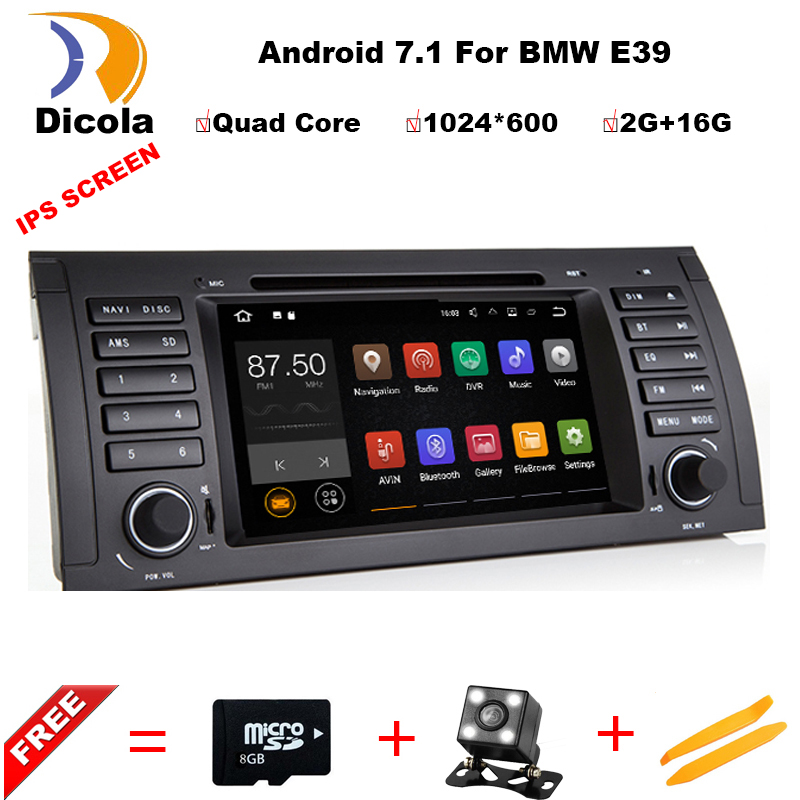 Android 7.1.1 2 DIN Voiture DVD GPS Pour BMW E39 X5 M5 E53 E38 avec CANBUS WIFI USB stéréo navigation multimédia de voiture radio stéréo PC