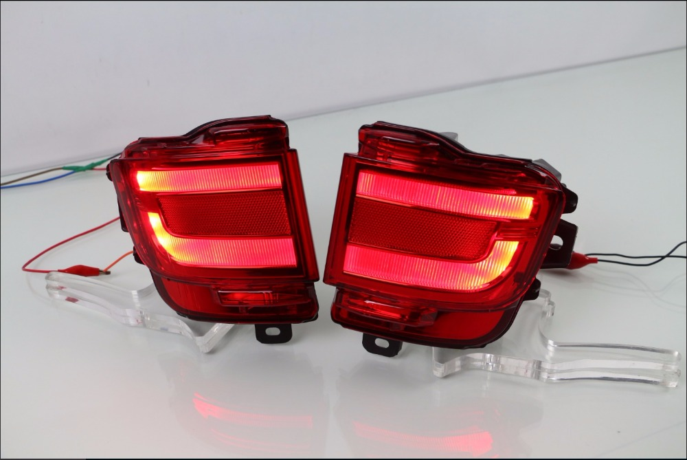 2PCS LED Rear Tail Fog Lamp For Toyota Land Cruiser 200 FJ200 LC200 Accessories 2016 2017 for toyota land cruiser lc200 fj200 2013 2014 abs chrome rear trunk lid cover trim tail gate trunk protector accessories