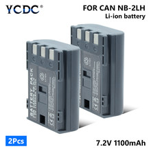 YCDC 2019 NEW Battery NB-2LH NB 2LH For Canon Elura 40 MC 50 60 70 80 85 90 EOS 350D 400D Elura 40MC 50 60 65 70 80 85 90(China)