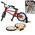 Juguetes de aleación de mini Dedo BMX Bicicletas de Montaña Caja Al Por Menor + 2 unids Neumático de Repuesto mini dedo bmx Bicicleta Juego creativo de Regalo para los niños