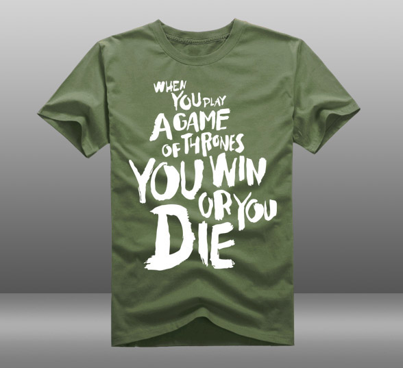 font b Mens b font Casual Game of Thrones You Win or You Die Short