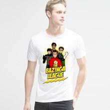 The Big Bang Theory T-shirts printed Sheldon t shirt men Funny novel bazinga league Tshirts men's top tees Harajuku Style