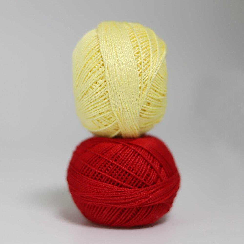 Размер 3 хлопковая Жемчужная Нить египетская длинная Штапельная хлопковая пряжа газированная двойная мерсеризованная 6 нитей плетение 50 грамм на шарик