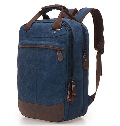 Nueva llegada 2017 bolsos de la vendimia hombres mochila mujeres mochila de lona mochilas portátiles mochila escolar informal de moda mochila BP00017