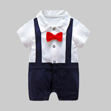 New Born Baby Clothing Gentleman Rompers