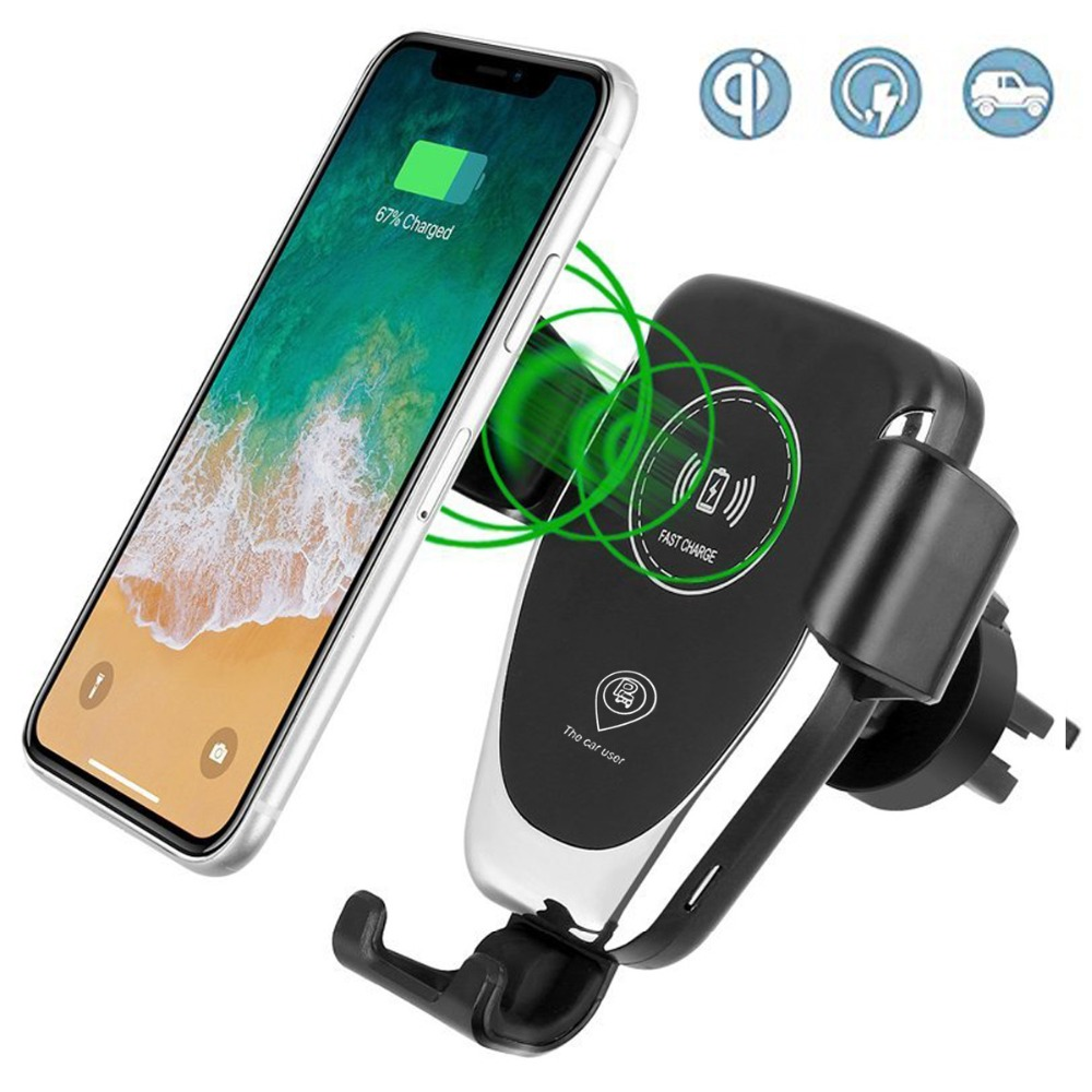 <font><b>Car</b></font> Mount Qi Wireless Charger For IPhone X, 8/8 Plus, Samsung Galaxy S9 Plus <font><b>S8</b></font> S7 Note Gravity <font><b>Phone</b></font> Mount <font><b>Car</b></font> <font><b>Holder</b></font> Stand
