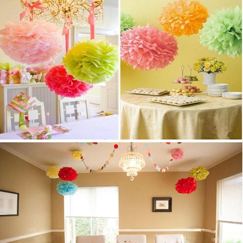 Wedding decorations multicolor handwork paper flower ball for Hand work decoration