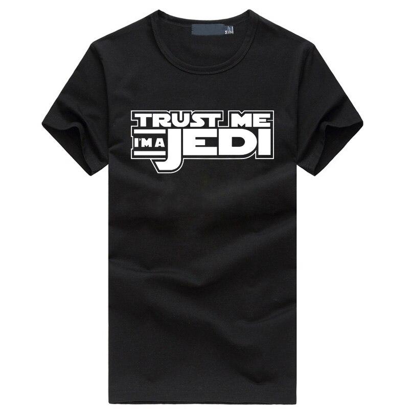 Verão 2019 engraçado streetwear HipHop tshirt homme preto ESTRELA GUERRA Confia Em Mim EU sou um Jedi T-Shirt da forma dos homens roupas de marca de fitness