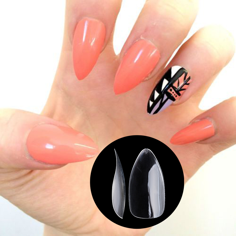 Nadeco New Full Cover Oval Rounded False Nails Acrylic Artificial ...