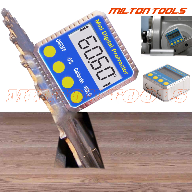 360° Magnetic Digital Protractor Angle Finder Bevel Level Box Inclinometer Meter