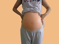 silicone 2 4 month 1000g woman pregnant Belly births Fake realistic belly False Baby pregnancy belly fake pregnant belly