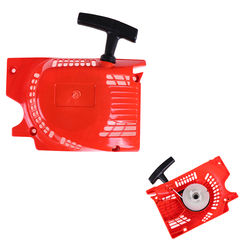 1pc New Red Recoil Pull Starter For Chinese Chainsaw 4500 5200 5800 45 52cc 58cc