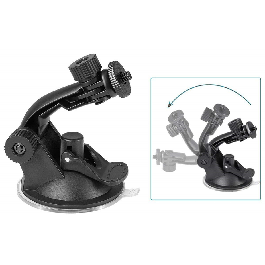 Glass Suction Cup Action Camera Sport Cam Tripod Mount For Car Record Holder Stand Bracket For Gopro Hero 7 6 5 Yi2 Accessories