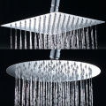 "8""  Square  Stainless Steel  Chrome  Rain Shower Head Bathroom Shower Accessary  Ultrathin Design  1/2"" Thread"