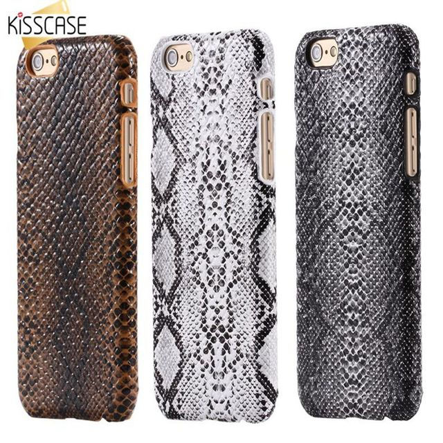 KISSCASE Sexy Snake Pattern For iPhone 7 XR XS MAX X 8 Plus 6S 7 Plus Case PU Leather Back Cover Case For iPhone 6 7 8 Plus X XR